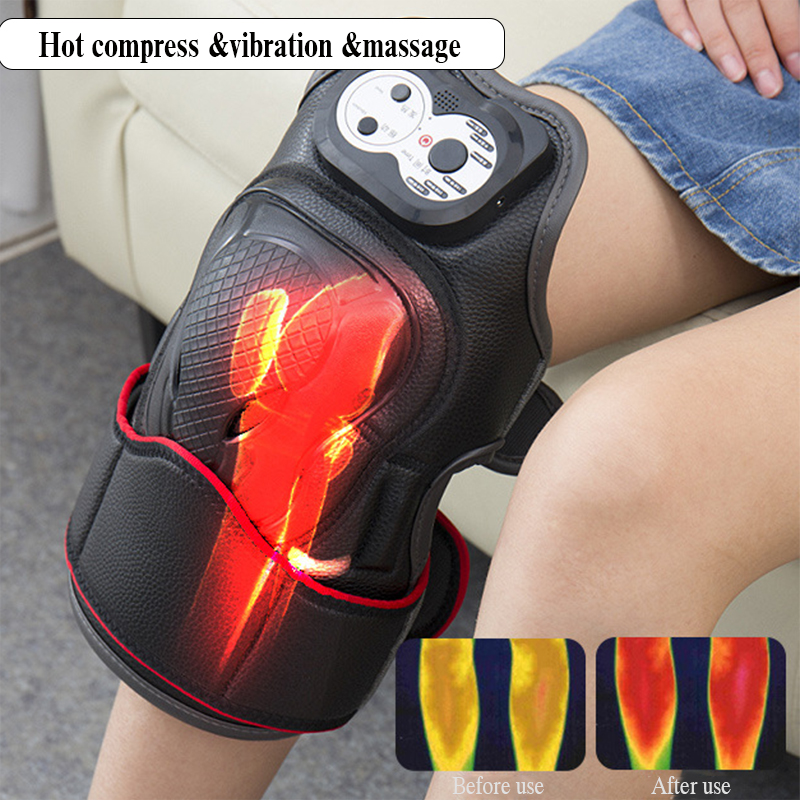 Electric Knee Massage Rehabilitation Equipment Magnetic Vibration Heating Massager Knee Joint Physiotherapy Device Pain ReliefElectric Knee Massage Rehabilitation Equipment Magnetic Vibration Heating Massager Knee Joint Physiotherapy Device Pain Relief