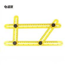 Measuring Instrument Adjustable Magic Angle Ruler Angle izer Template Tool Four side Ruler Carpenter Craftsmen Engineer
