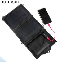 BUHESHUI Real Solar Panel Fordable Portable Solar Charger 8W Waterproof Solar battery board charging under the sun Free Shipping