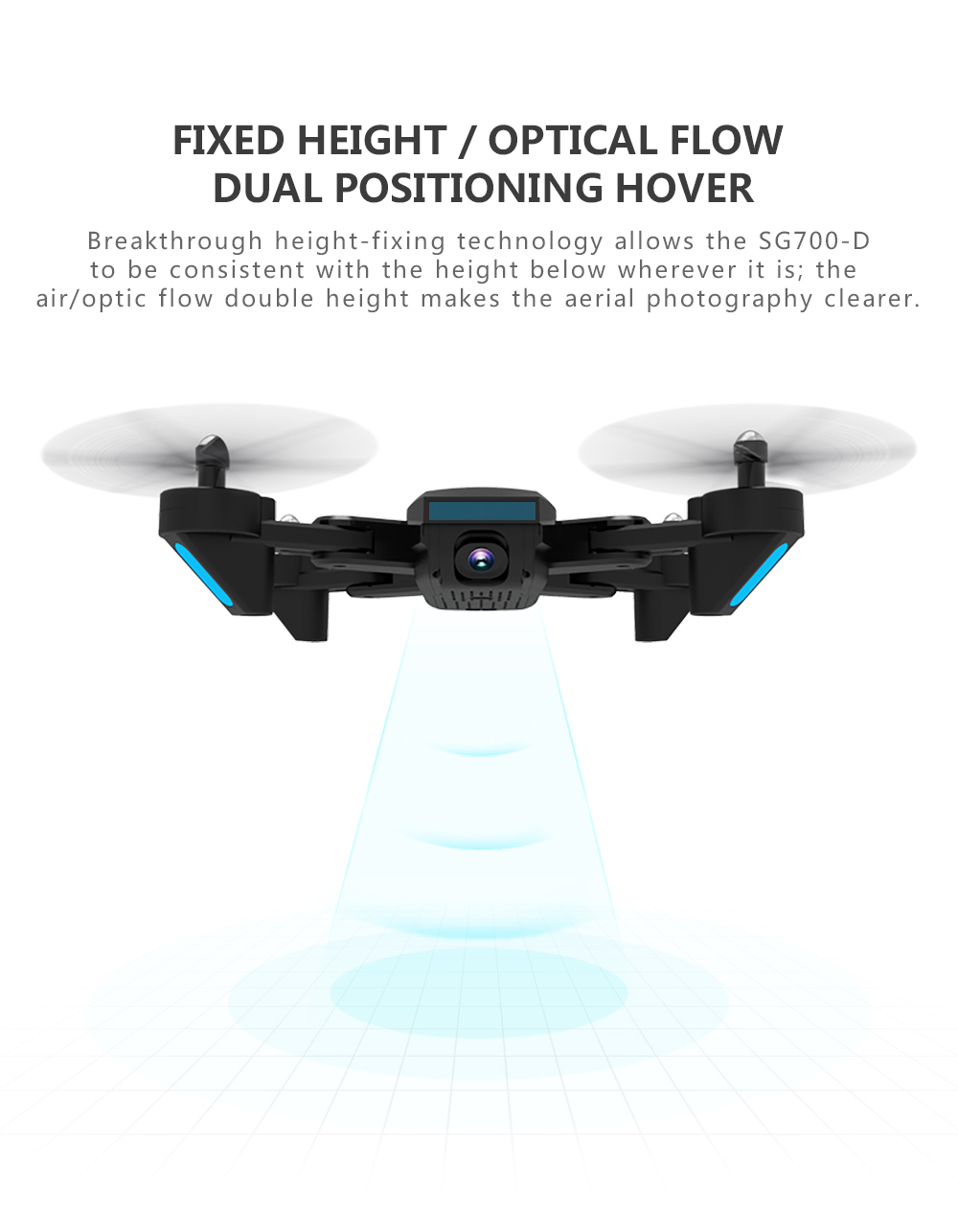 profissional quadrocopter selfie dron 22 minutos de tempo de vôo