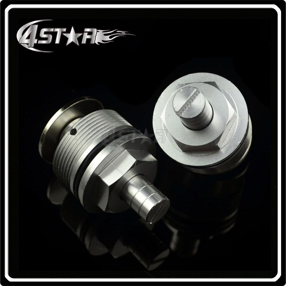 37mm Silver <font><b>Fork</b></font> End Cap Screw Bolt Tube Plugs For CBR250 NC19 NC22 VT250 Motorcycle ATV Racing Street Bike