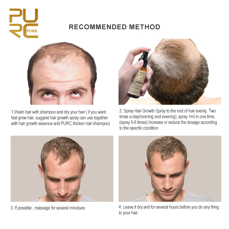 US $4 89 65% OFF|PURC 2018 New Hair Growth Spray Fast Grow Hair hair  lossTreatment Preventing Hair Loss Hair Care 30ml-in Hair Loss Products  from