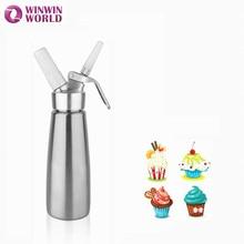 500ml Metal Aluminum Cream Whipper Kitchen Dessert Mousse Tools Professional Whipped Cream Dispenser for Home Family