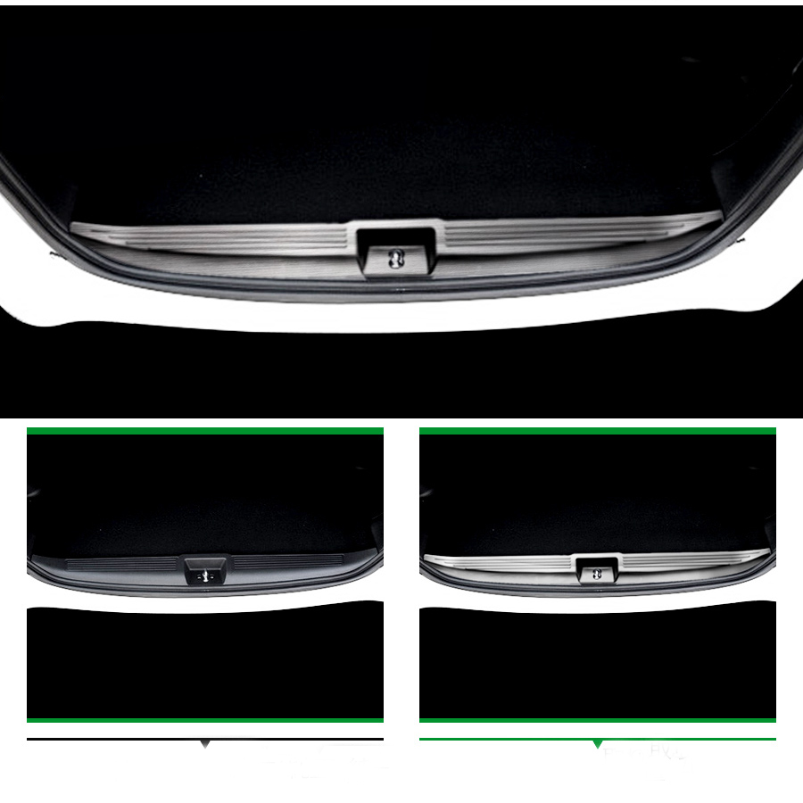 JY SUS304 Stainless Steel Rear Luggage Interior Scuff Protector Plate Cover Trim Car Accessories For HONDA