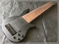 Customized lvybest 10 string Electric Bass in Matte Black Finish, Maple Neck, Rosewood Fingerboard, free shipping!