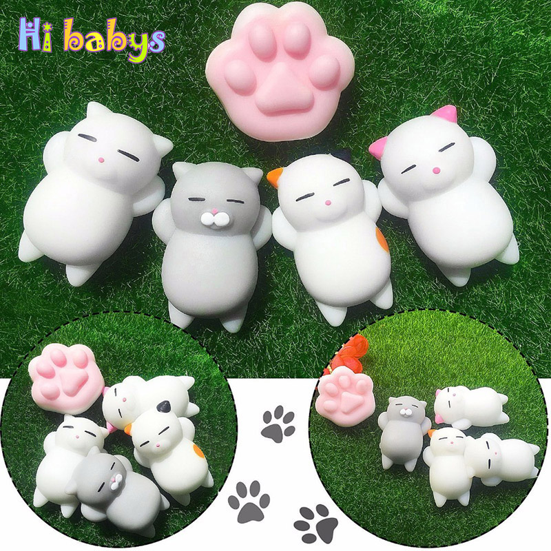 Smooshy Mushy Cute Mini Animal Anti-stress Squishy Toys Abreact Soft Sticky Rising Toy Squishy Stress Relief Funny Gift Keychain цены