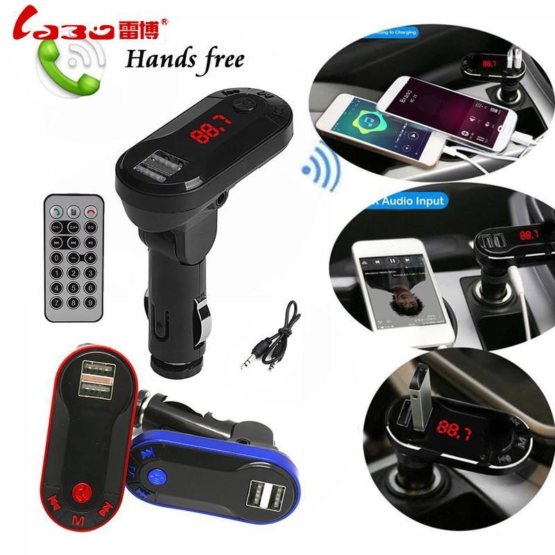 LABO MP3 Music Player Bluetooth wireless hands -free car kit FM transmitter MP3 player USB TF SD remote control machine  QDZ3359