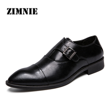 ZIMNIE Men Dress Shoes Formal Business Work Shoes Soft Genuine Leather Pointed Toe Shoes For Men Mens Oxford Flats Size 38 47
