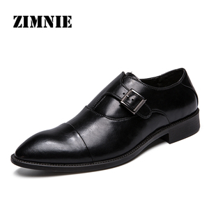 Image 1 - ZIMNIE Men Dress Shoes Formal Business Work Shoes Soft Genuine Leather Pointed Toe Shoes For Men Mens Oxford Flats Size 38 47