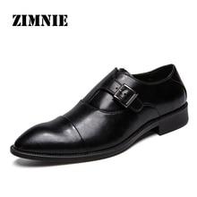 ZIMNIE 남자 드레스 신발 공식적인 비즈니스 작업 신발 남자에 대 한 부드러운 정품 가죽 지적 발가락 신발 남자 옥스포드 크기 38 47