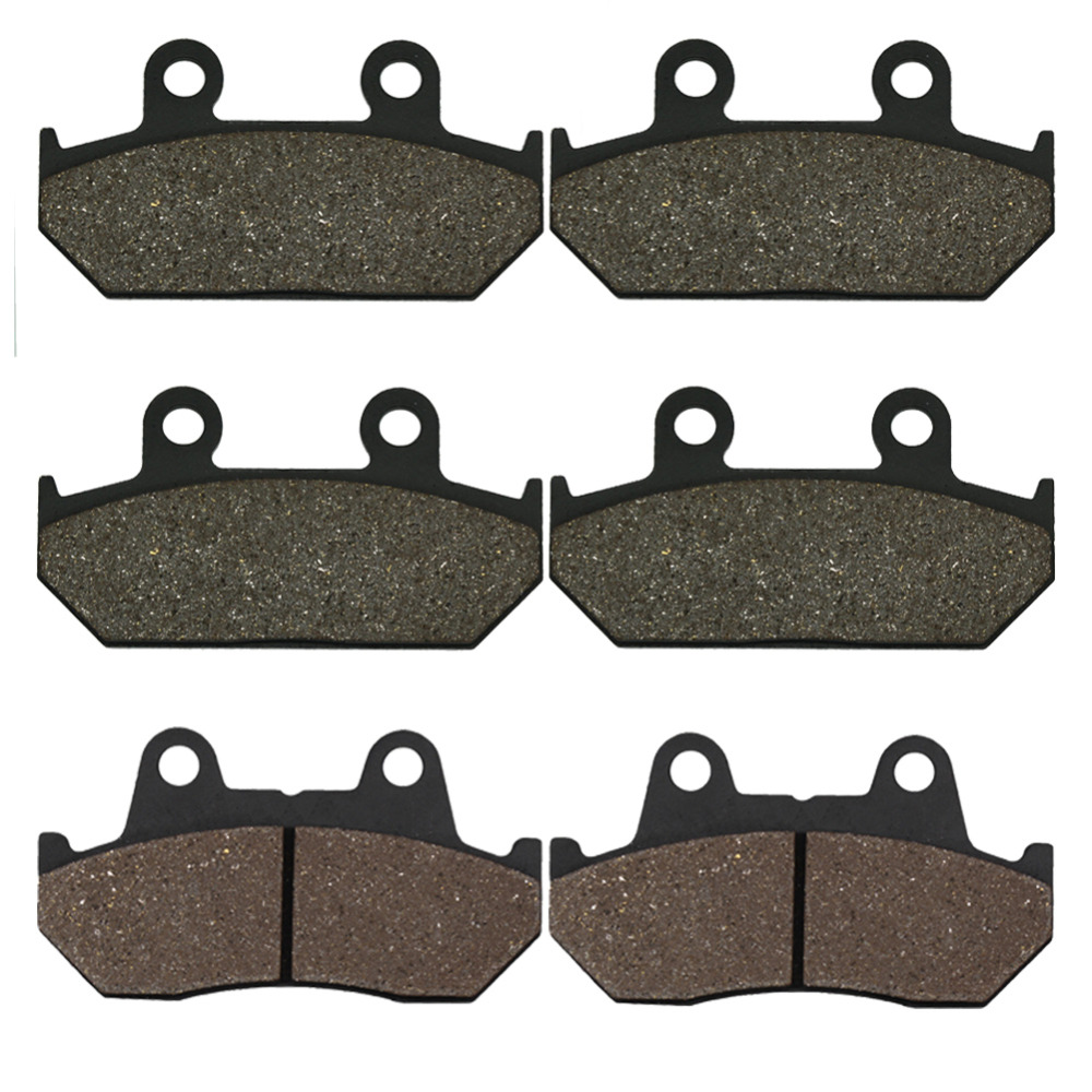 Cyleto Motorcycle Front and Rear Brake Pads for Honda GL 1500 A Aspencade / Interstate 90-00 GL1500 Goldwing 98-00 VFR750F 86-87 cyleto motorcycle front and rear brake pads for yamaha xvz1300 xvz 1300 royal star boulevard tour deluxe tour classic 96 01