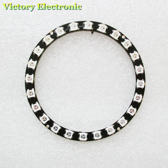 High Quality New Arrival 24 Bits LED Ring 16 x WS2812 5050 RGB LED with Integrated Drivers