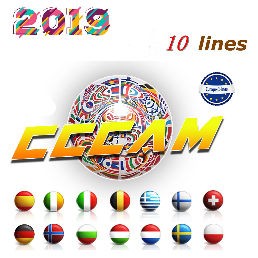 Europe HD 1 Year CCCam 10 lines Spain Portugal Germany Poland Satellite tv Receiver cccam For DVB S2 gtmedia v7s freesat V8 SUPE-in Satellite TV Receiver from Consumer Electronics