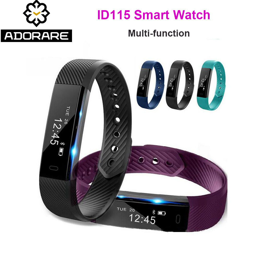 ADORARE Original ID115 Sport Smart Uhr Männer Frau Uhr Fitness Tracker Armband Bluetooth Schritt Zähler Aktivität Handgelenk Uhr