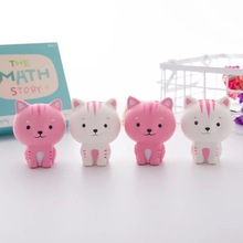 8.5 CM Squishies Stretch Rare Kawaii Kecil yang Lucu Susu Kucing Roti Mainan Anak-anak Dewasa Stres Stres Mainan Tali Telepon Melambat Mainan