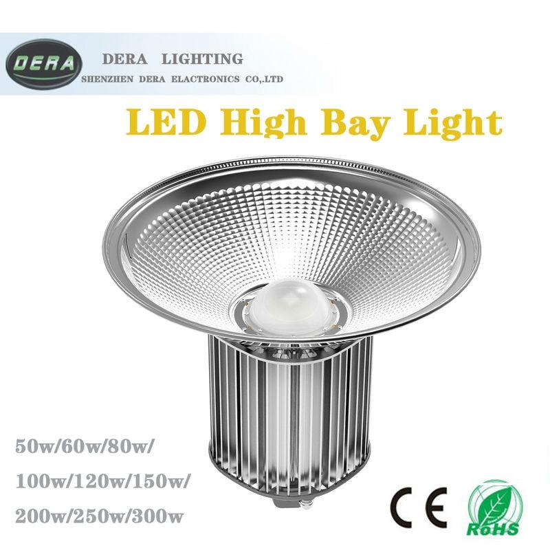 200W Terintegrasi Pencahayaan Industri Lampu Teluk Tinggi Gudang Lampu Langit-langit Pabrik Pencahayaan Lantai LED Pertambangan Putih