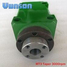 Морзе 3 MT3 MS3 конусный патрон 1500 вт 1.5квт 2hp силовая головка блок станка шпиндель Max.3000RPM для сверления/расточной машины