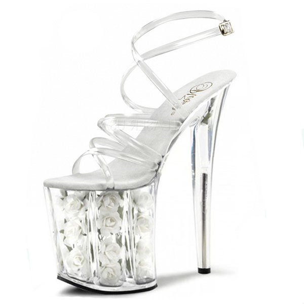 princess 20 centimeters high heel sandals, pole dancing shoes, interest temptation crystal high-heeled Dance Shoes