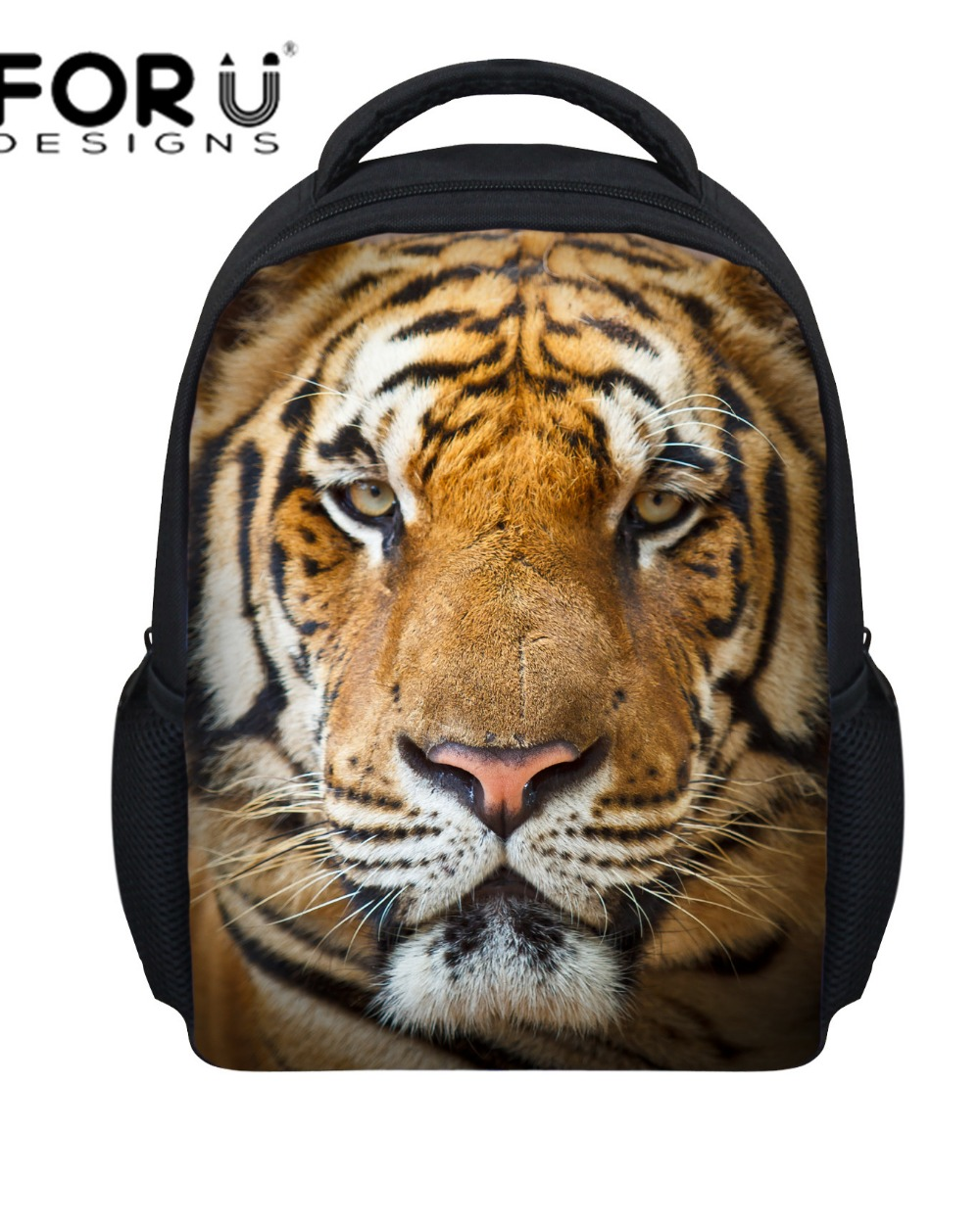 mini 3d zoo animal backpack for kids small kindergarten baby bagpack cool tiger head backpack children school bags free shipping