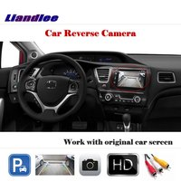 Liandlee Auto Rearview Reverse Parking Camera For Honda Civic 2012 2015 / Rear View Backup Camera Work with Car Factory Screen