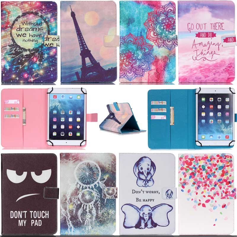 Print pattern Wallet universal 7 inch font b tablet b font leather case Stand Cover font