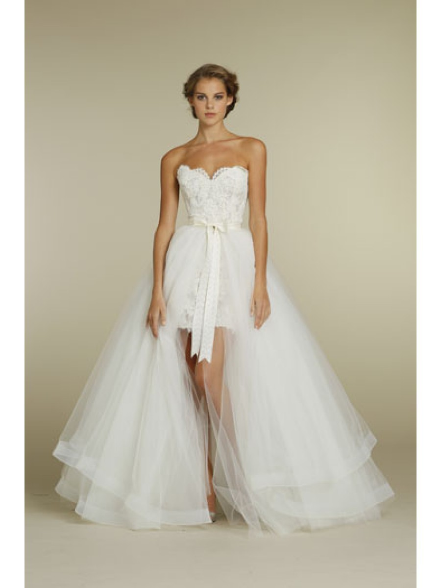 2 Piece Wedding Dress 2015 Sexy Greek Short Grace Loves Lace Demountable Skirt A Line Tulle Long Sash Mini In Dresses From