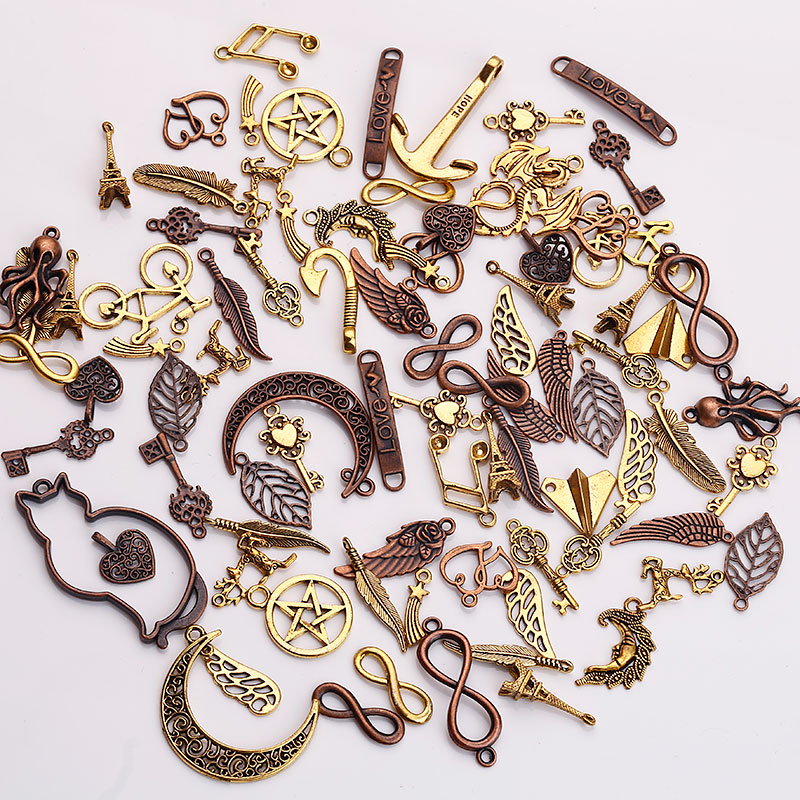 Metal Mixed Charms For Jewelry Making Diy Handmade