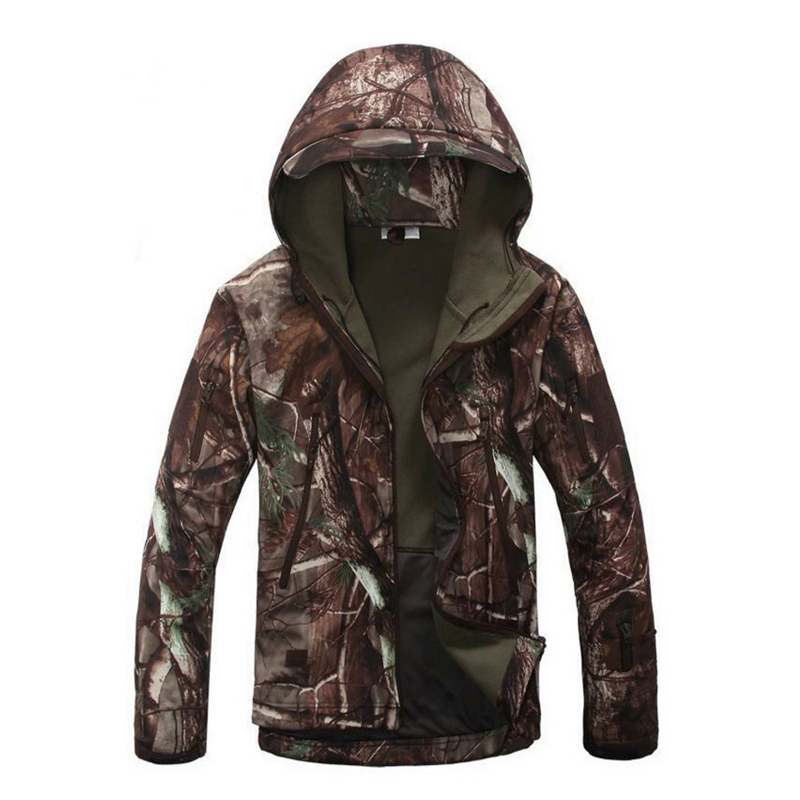 Men Winter Waterproof Outwear Tactical Fish Climb Hunt Hiking Trekking Lurker SoftShell Outdoor Jackets Hood Military