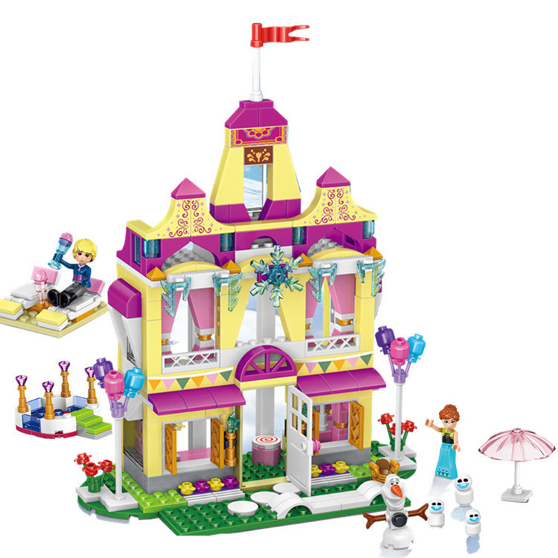 Toys & Hobbies Delicious New Legoings 390pcs Princess Anna Ice Castle Diy Model Building Blocks Kit Kids Education Toys Girl Christmas Birthday Gifts Nourishing Blood And Adjusting Spirit Model Building