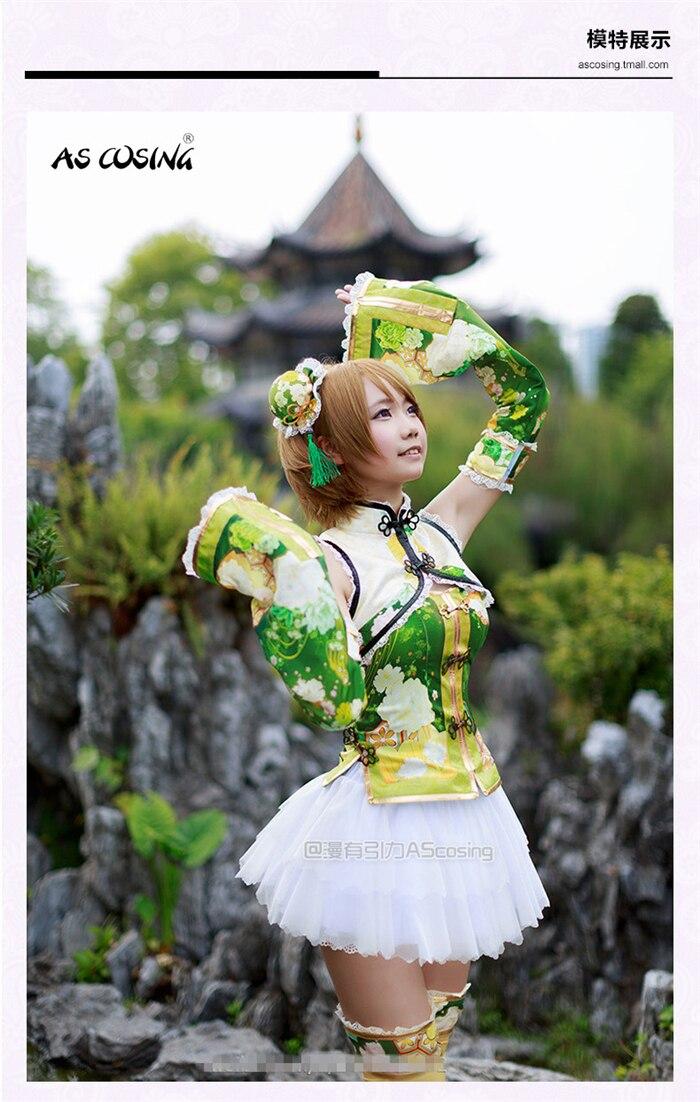 Здесь продается  love live KOIZUMI HANAYO cheongsam awakening cosplay costume Halloween anime dress free shipping  Одежда и аксессуары