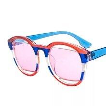 Moda damska tanie owalne okulary przeciwsłoneczne, zielony, niebieski, żółty i czerwony okrągły plaża projektant odcienie na sprzedaż z case Lady okulary do jazdy