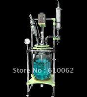 10 л взрывозащищенный электродвигатель  химический реактор  двухшейная стеклянная реакционная емкость  реактор из боросиликатного стекла