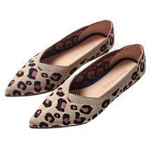 2019 New Spring Women Flats Shoes Leopard Print Casual Single Ballerina Shallow Mouth