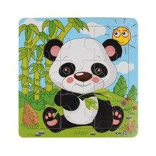 Мода Деревянный Panda Jigsaw Игрушки Для Детей Образование И Обучение Головоломки Игрушки Бесплатная Доставка