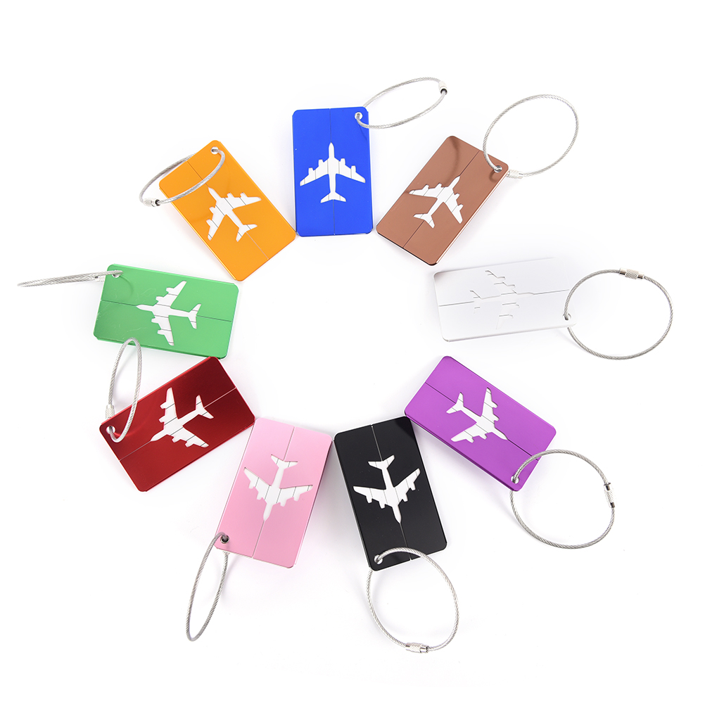 7.5*4.4cm Rectangle Aluminium Alloy Luggage Tags Suitcase Address Label Holder Travel Accessories Baggage Name Tags wulekue rectangle aluminium alloy luggage tags travel accessories baggage name tags suitcase address label holder