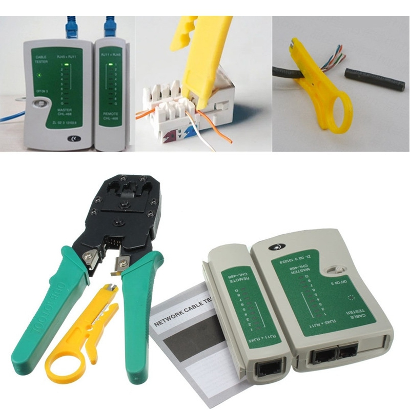 RJ45 RJ11 RJ12 CAT5 LAN Network Tool Kit Communication Cable Tester Crimp Crimper Plier
