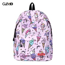 Ou Mo brand Print unicorn computer laptop anti theft backpack feminina Women Bag man Boys/Girls child Schoolbag