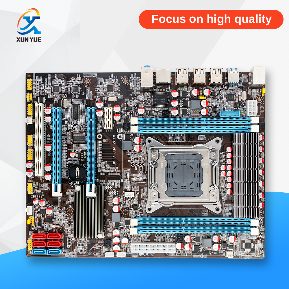 100% OEM New X79Z E5 2.4E Desktop Motherboard X79 LGA 2011 For I7 E5-V1 E5-V2 DDR3/ECC 64G 2*PCI-E SATA3 USB3.0 All-Solid ATX ...