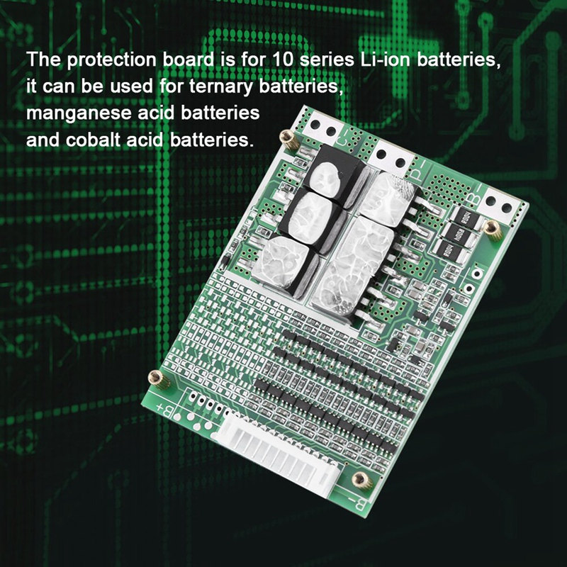 10S 36V 35A Li Ion Lipolymer Battery Protection Board Bms Pcb For E Bike Electric Scooter|Battery Accessories| |  - title=