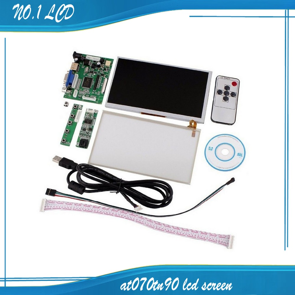 INNOLUX 7 Inch LCD Touch Screen Display TFT Monitor AT070TN90 With Touch Screen Kit HDMI VGA Input Driver Board
