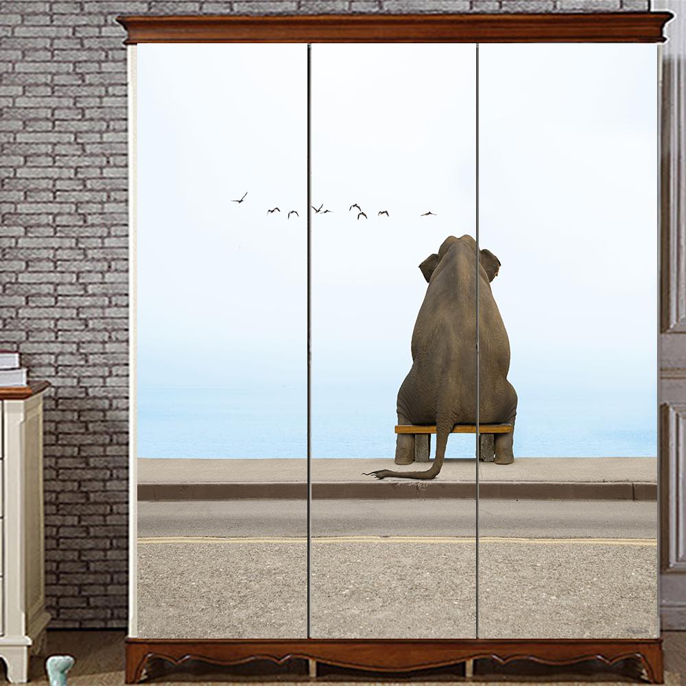 Yazi kundengebundene größe pvc tapete wandbild schlafzimmer kleiderschrank schiebetüren schranktür aufkleber fensterglas filmchina