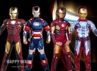 2015 Free Shopping Iron Man Mark Patriot Muscle Child Kids Halloween Costume Fantasia Avengers Superhero Cosplay