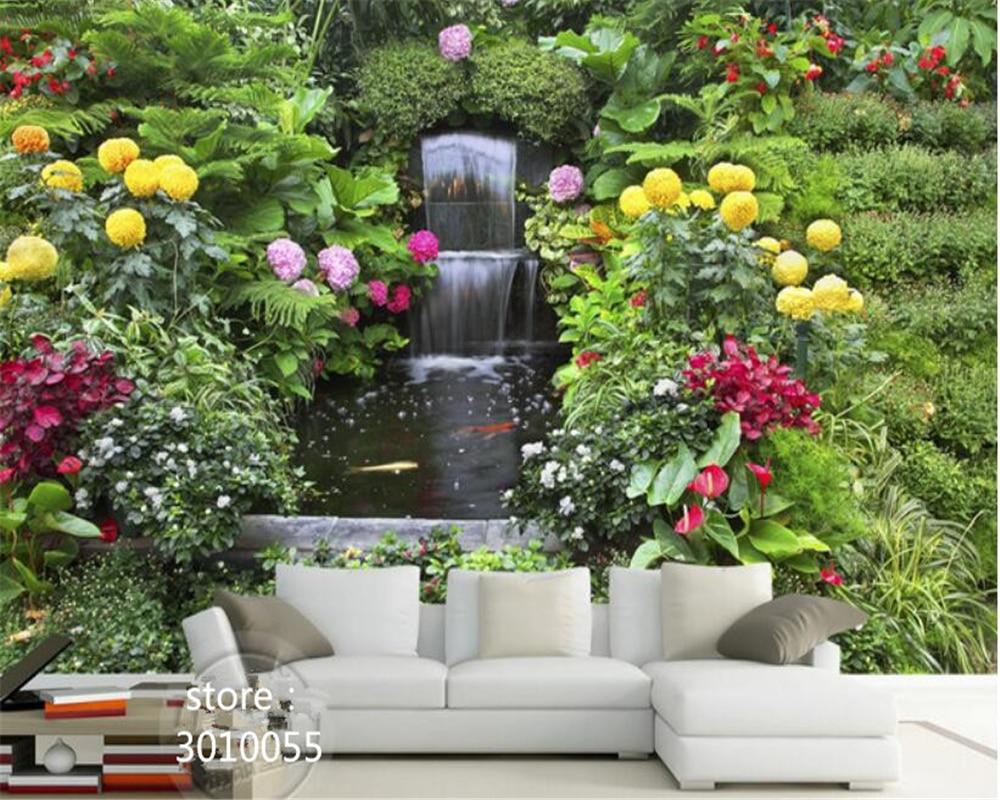 Waterval In Tuin : Beibehang geschikt voor indoor 3d behang zijde doek verse