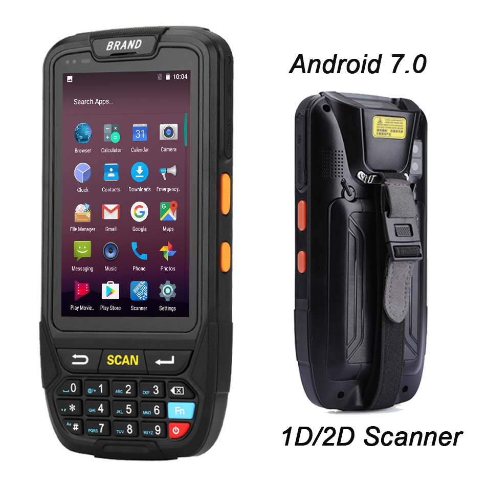 купить PDA Android 7.0 1d bluetooth android barcode scanner 1D USB Rugged pda Data Collector terminal scanner reader handheld terminal онлайн