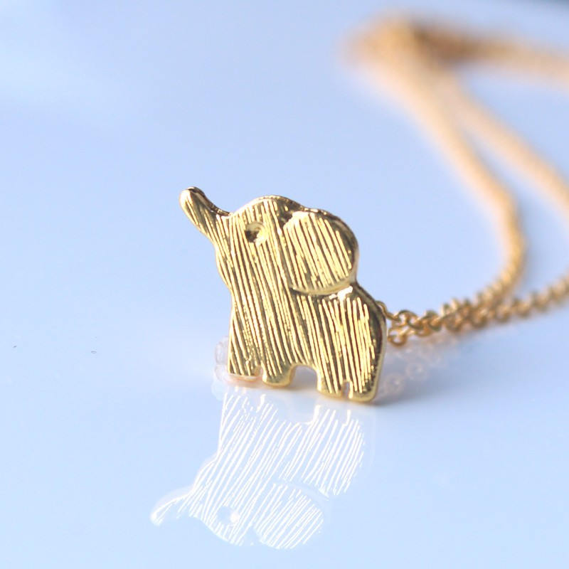 Mini Gold And Silver Lucky Elephant Necklace