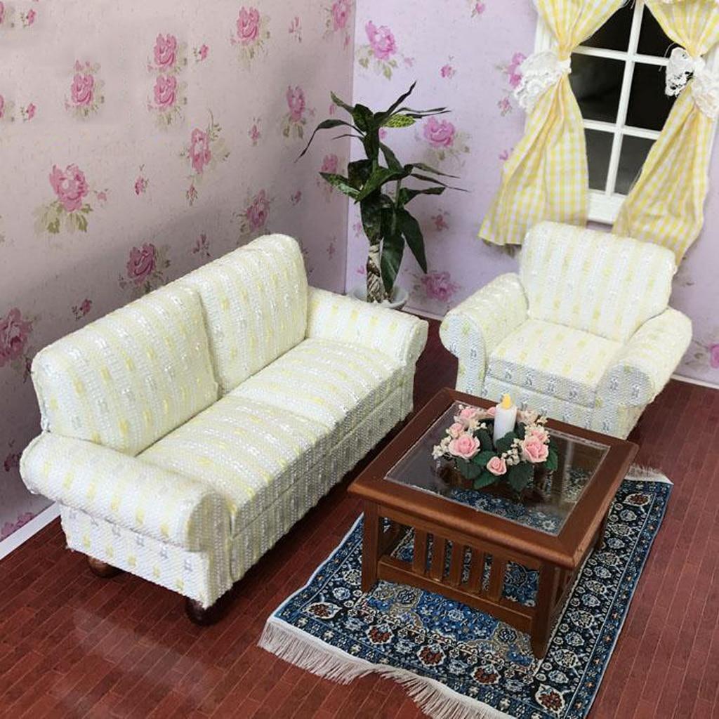 Magideal 1 12 Dollhouse Miniature Furniture Single Sofa Cushions
