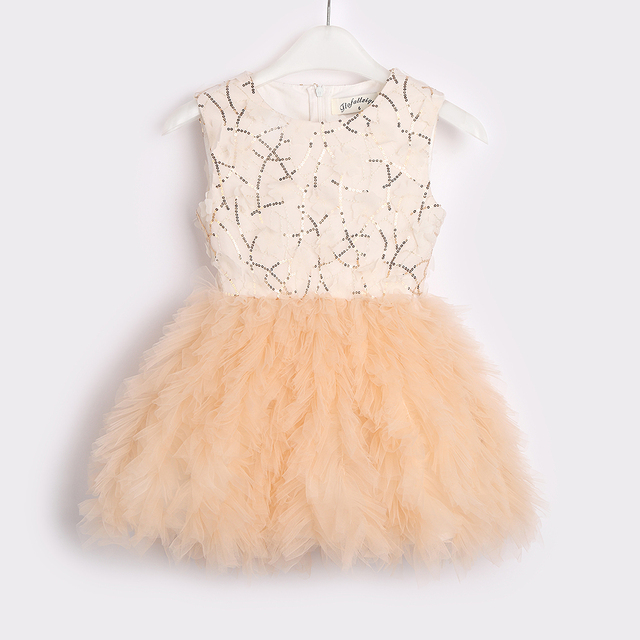 2021 Baby Girl Tutu Dress Costume For Kids Sleeveless Christening Tulle Sequined Wedding Party Princess Toddler Clothes 2