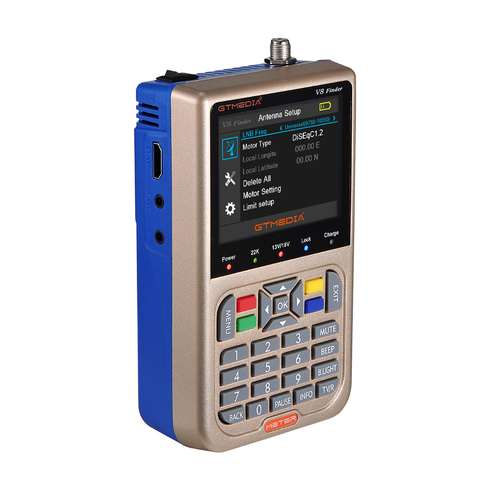 Image 3 - V8 прибор обнаружения метр SatFinder Цифровой спутниковый Finder DVB S/S2/S2X HD 1080 P приемное устройство ТВ приемник сигнала при разнесённом приёме СБ декодер для определения местоположения-in Приемник спутникового ТВ from Бытовая электроника