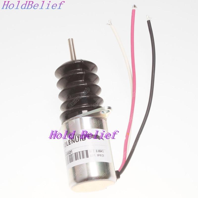 Fuel Shut Off Solenoid AM103337 For John Deere 3375 375 675 655 755 855 955 F935