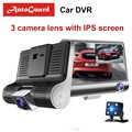 Car Dvr 3 Camera Lens 4.0 Inch Rearview Camera Video Recorder Dash Cam Auto Registrator Dual Lens With Rear View Camera DVRS